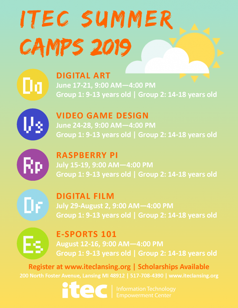 Summer-Camp-Poster-2019-791x1024 ITEC Summer Camps 2019 - Registration Open!